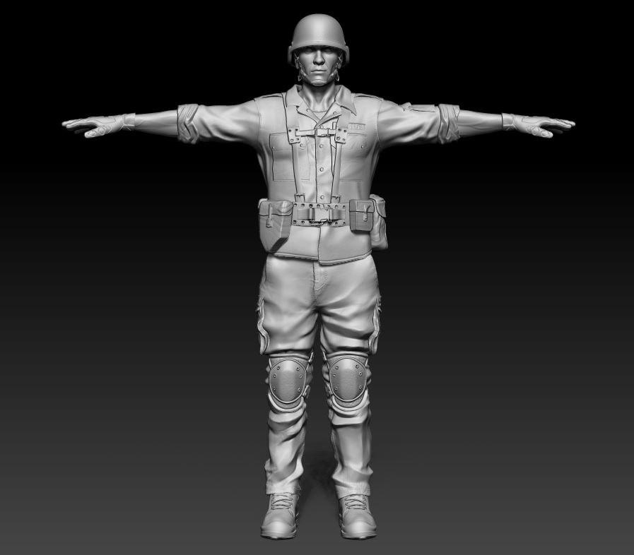 3ds sculpt soldier helmet