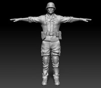 3ds sculpt soldier helmet