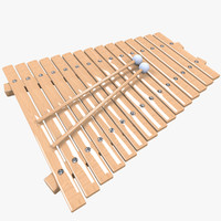3d model realistic xylophone