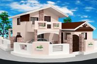 3dsmax house 2 storey