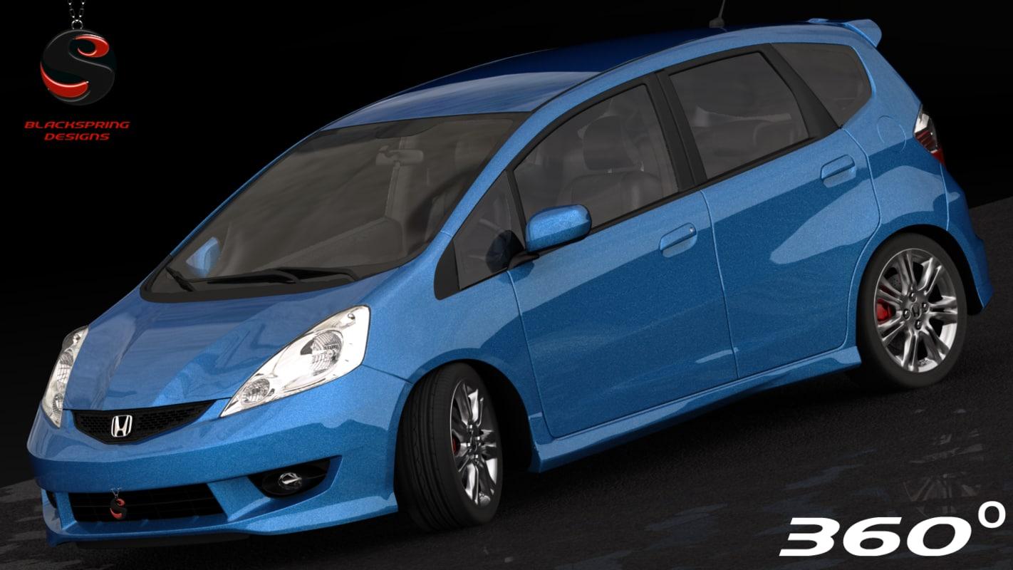3d honda fit sport 2009 model