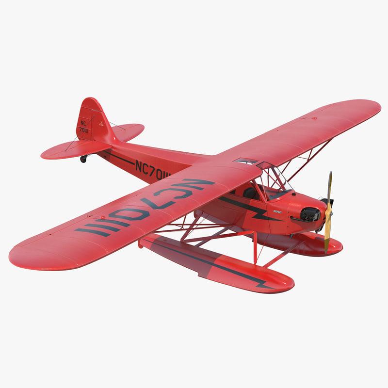 3ds light aircraft piper j