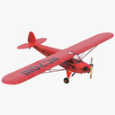 private propeller plane 3D models