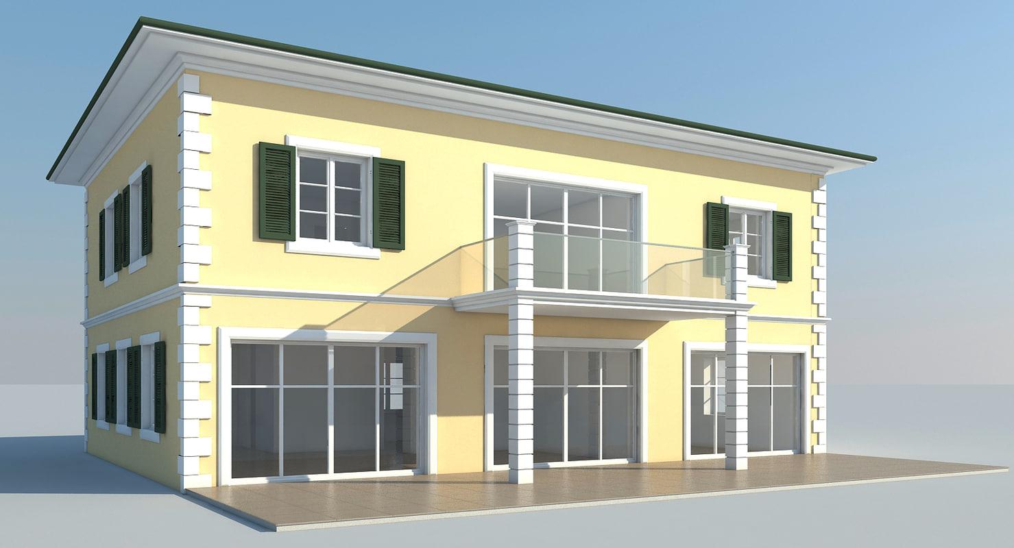 3ds max single villa