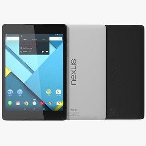 3d google nexus 9 set