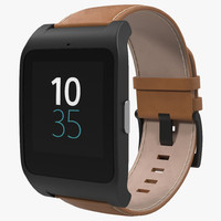 3d model sony smartwatch 3 leather