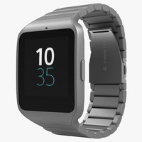 sony smartwatch 3 stainless steel 3d max
