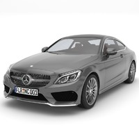 3ds max mercedes-benz c-class coupe 2017