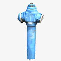 3d model hydrant blue scan