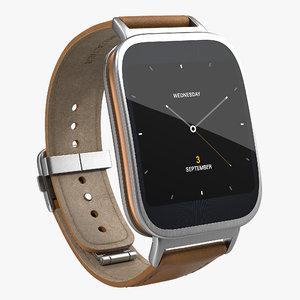 3d model of asus zenwatch 3