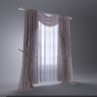 curtain interior 3d model
