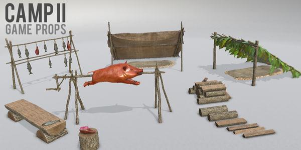 camp ii props - 3d model