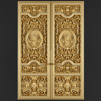 Luxury Classic baroque carved door(1)