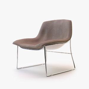 moon-a armchair 3d 3ds