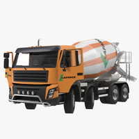 3d cement mixer vehicle lafarge model
