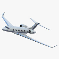 3d model gulfstream g650 rigged