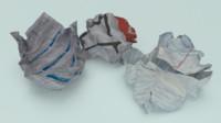 crumpled paper junk