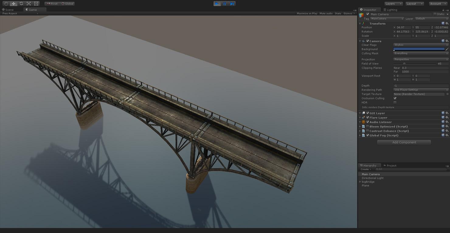 3d bridge ready model