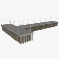 3d model commercial pier