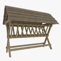 3d farm feeding rack model