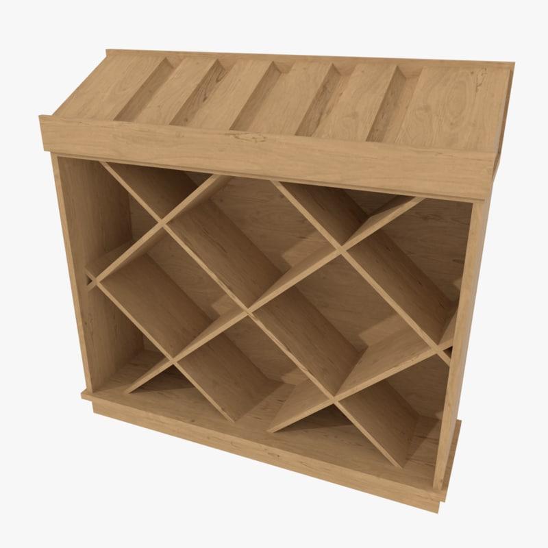 wine display cabinet 3d 3ds