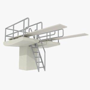 diving board 3d model