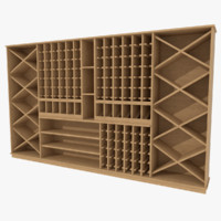 Wine cabinet one textured