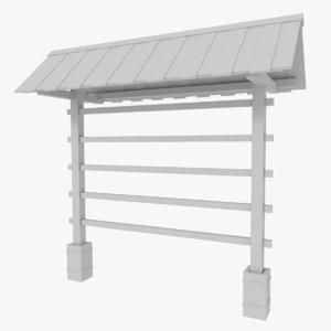 3dsmax hay drying rack