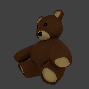 3d obj toy bear