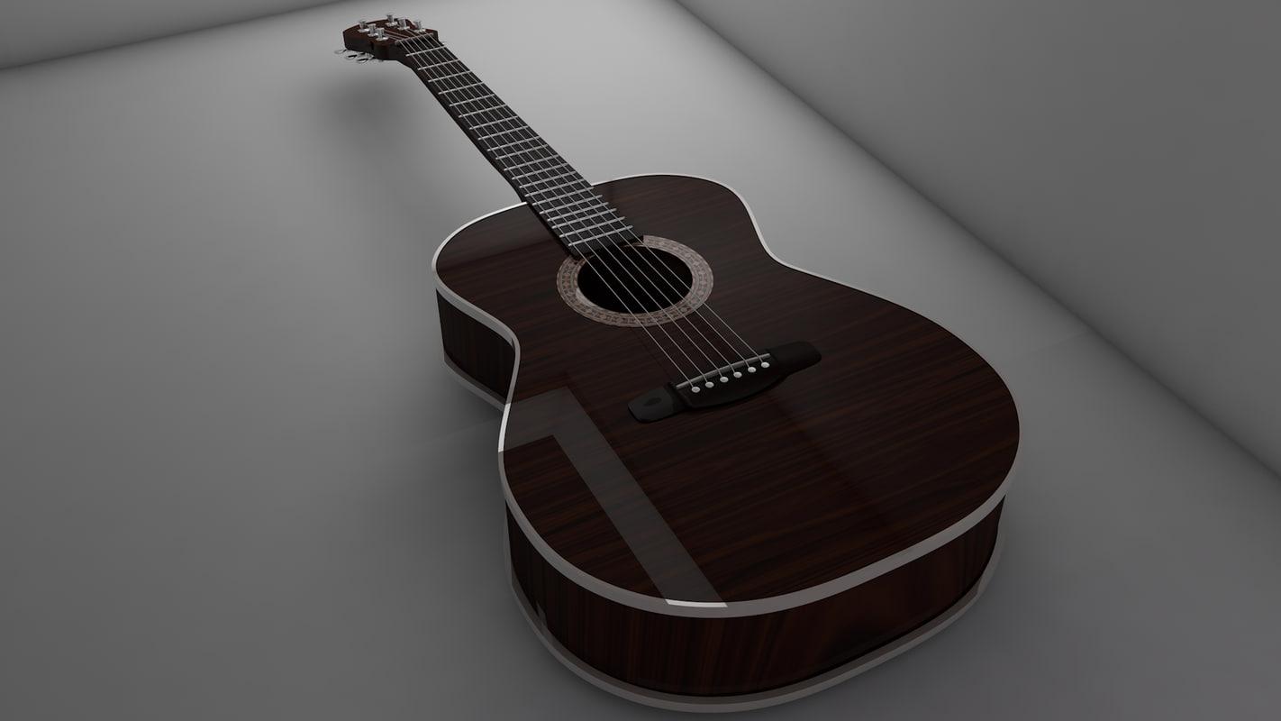 c4d guitar
