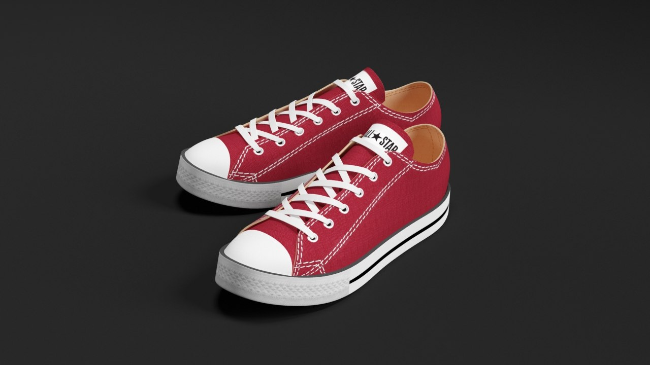 16b8ffee4a converse star sneakers 3d max