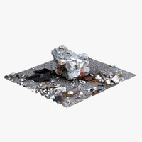 stone brick scan 3d model