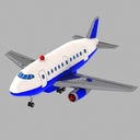 Toon Commercial Aircraft