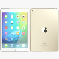 realistic apple ipad mini 3d obj