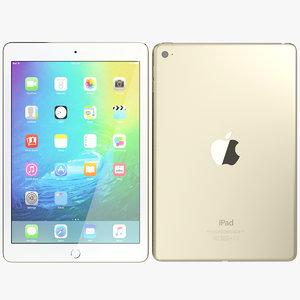 realistic apple ipad mini 3d obj