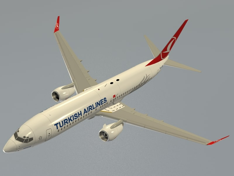 3d b 737-800 turkish airlines