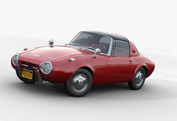 3d toyota sports 800 model