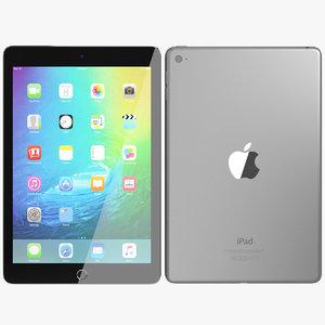 3ds realistic apple ipad mini