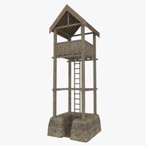 viking watchtower 3d model