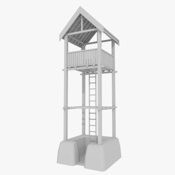 3d viking watchtower