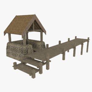 viking dock 3d model