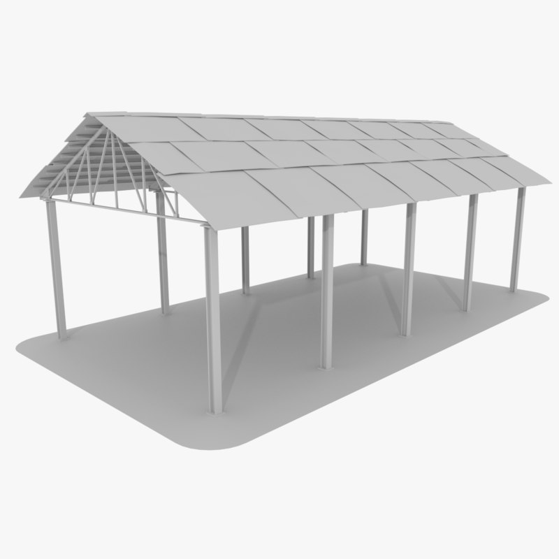 storage area outdoor 3d model