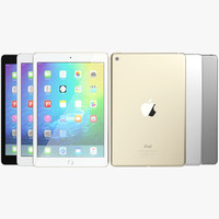 3d realistic apple ipad mini