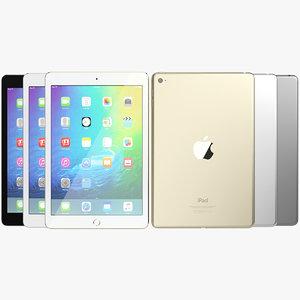 3d realistic apple ipad mini