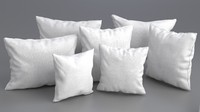 3ds solid pillow set