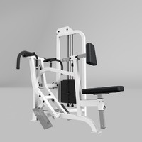 seated row exercise 3d model