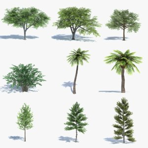 3ds max tree set polys