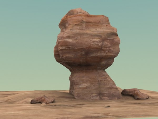 sandstone formation 3d model