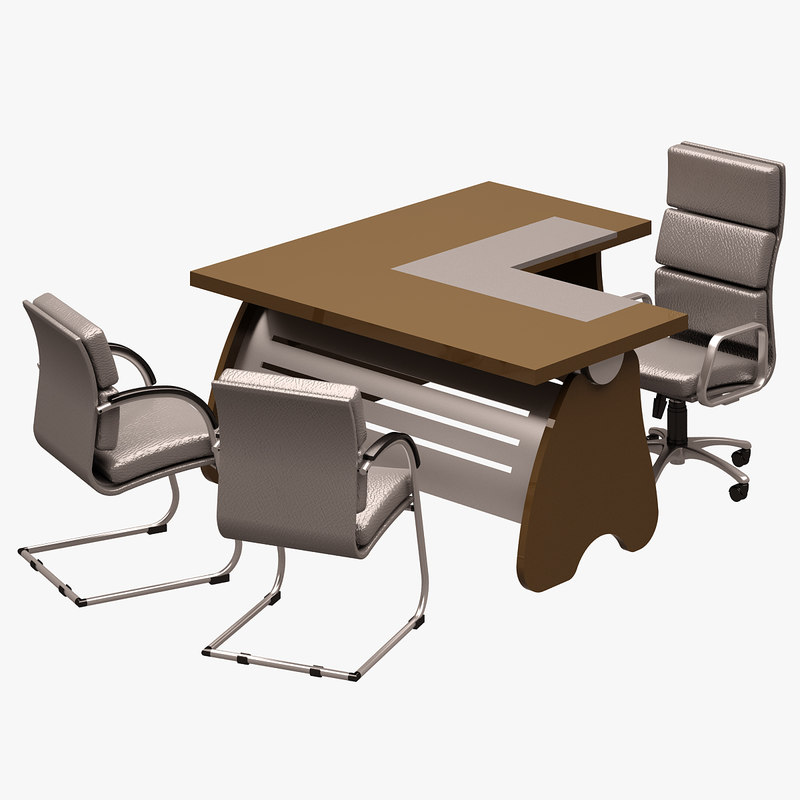 table office chair 3d max