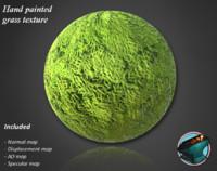 Handpainted grass texture